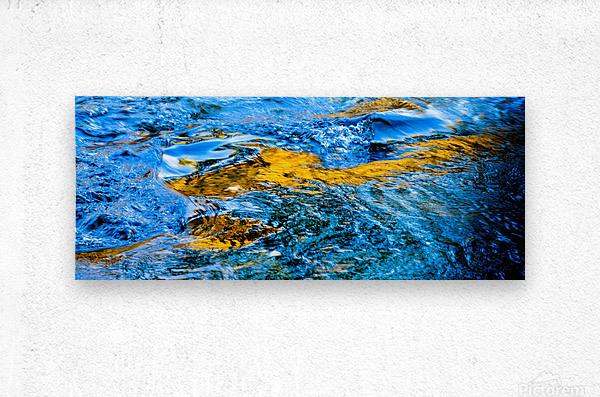 Flowing reflections 1  Metal print