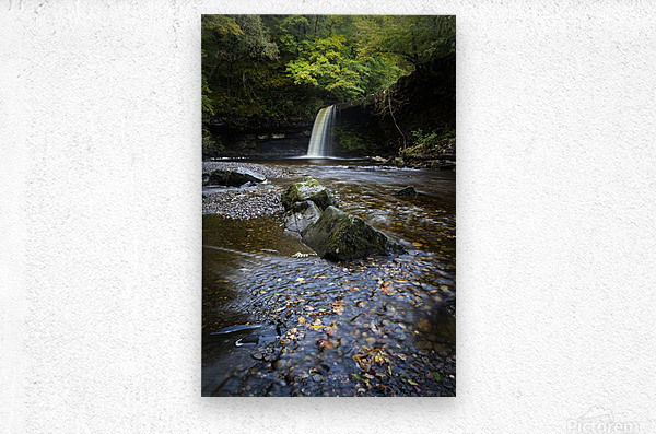 Autumn at Sgwd Gwladus  Metal print