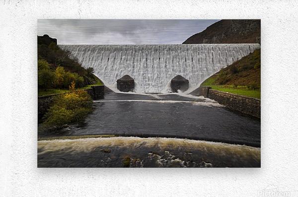 The Elan Valley dam  Metal print