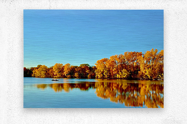 Autumn Canoe  Metal print