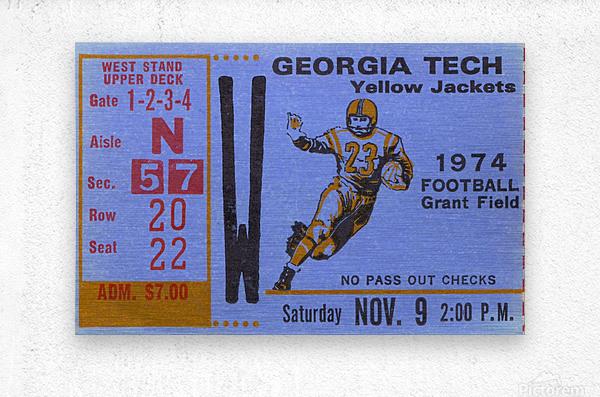 1974 georgia tech remix  Metal print