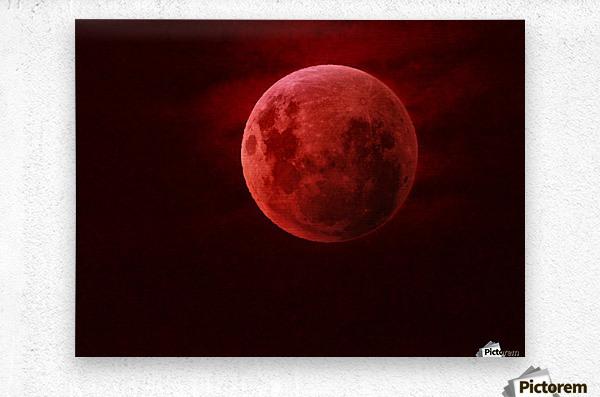 One Red Moon  Metal print
