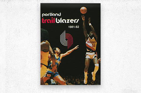 1981 Portland Trailblazers Art  Metal print