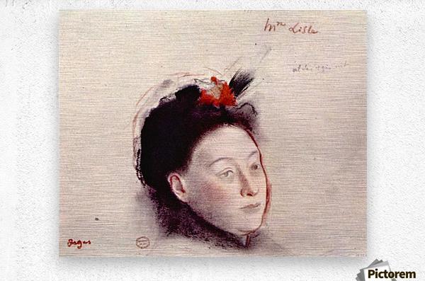 Portrait of Madame Lisle by Degas  Metal print