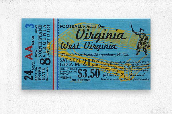 1957 Virginia vs. West Virginia  Metal print