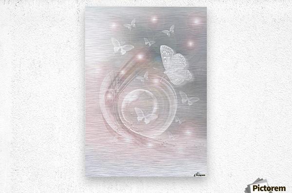 magical dream world of butterflies  Metal print