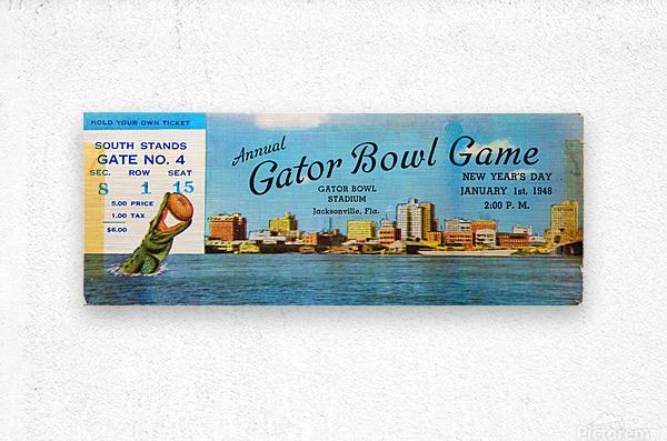 1948 Gator Bowl Georgia vs. Maryland  Metal print