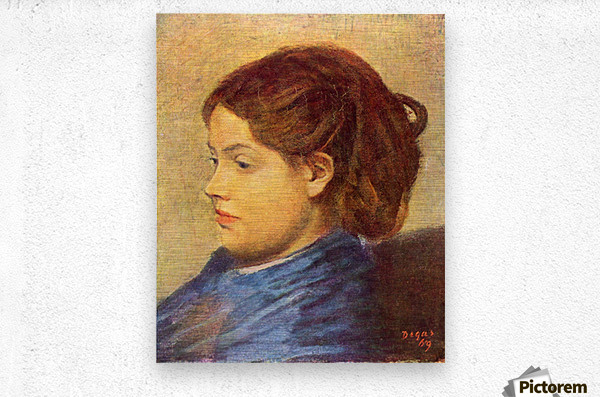 Portrait of Mademoiselle Dobigny by Degas  Metal print
