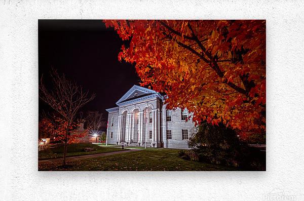 Courthouse Autumn Night  Metal print