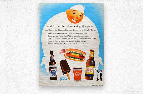 1962 Otis Shepard Concessions Ad  Metal print