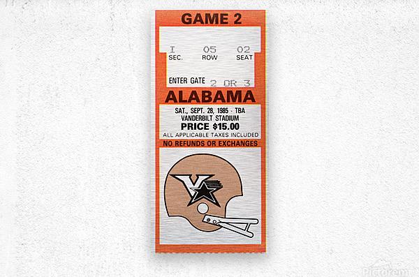 1985 Alabama vs. Vanderbilt  Metal print