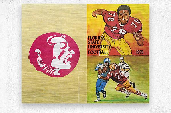 1975 Florida State Football Art  Metal print