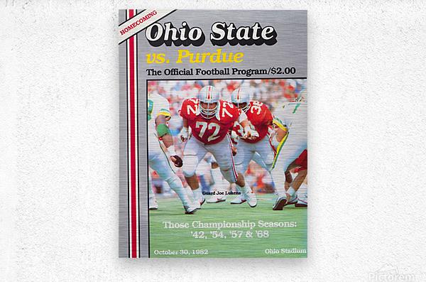 1982 Ohio State vs. Purdue Program Cover Art  Metal print
