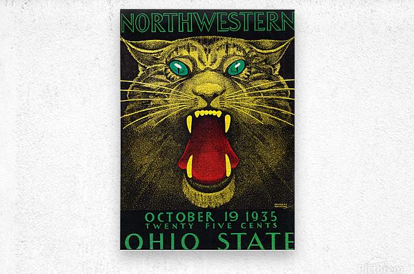 1935 Northwestern vs. Ohio State  Metal print