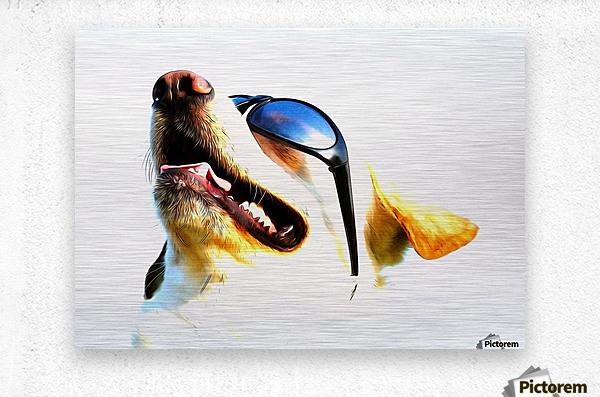 doggy  Metal print