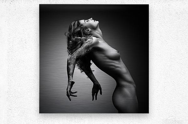 Nude woman fine art 22  Metal print