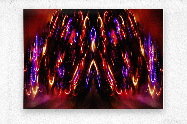 Lights15  Metal print