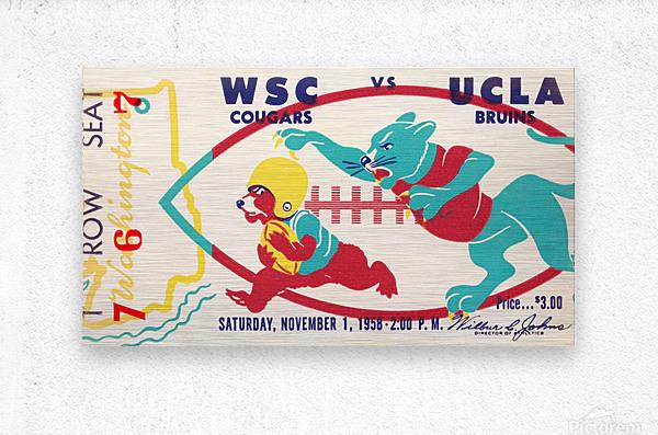 1958 UCLA vs. Washington State  Metal print