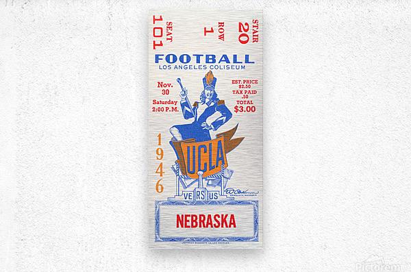 1946 UCLA vs. Nebraska  Metal print