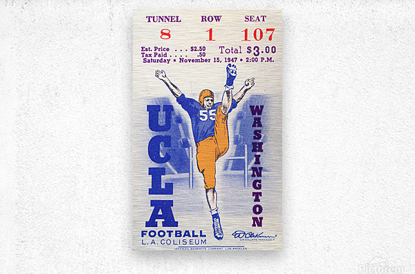 1947 UCLA vs. Washington  Metal print