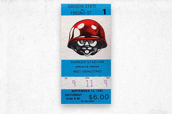 1981 Oregon State vs. Fresno State  Metal print