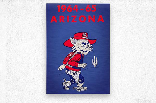 1964 Arizona Wildcat Art  Metal print
