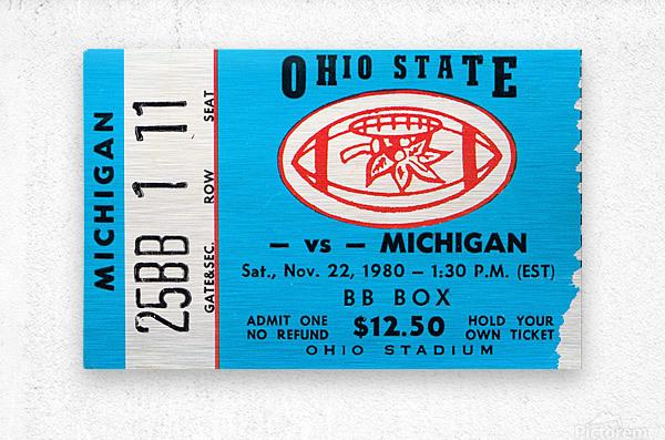 1980 Ohio State vs. Michigan  Metal print