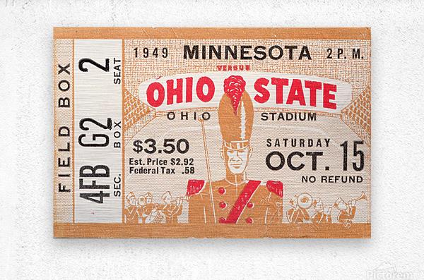1949 Ohio State vs. Minnesota  Metal print