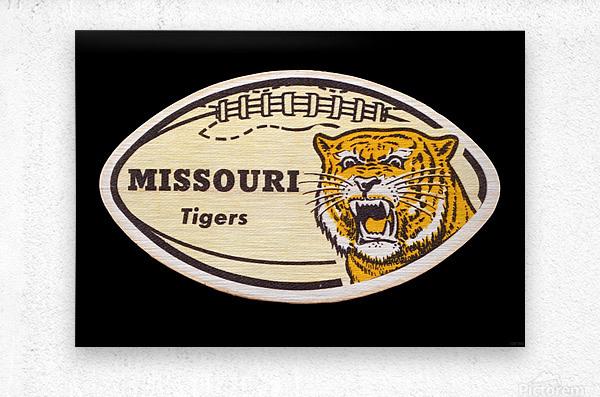 1965 Missouri Tiger Football Art  Metal print