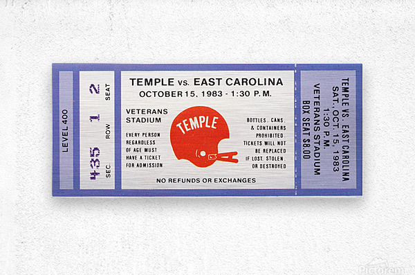 1983 Temple vs. East Carolina  Metal print