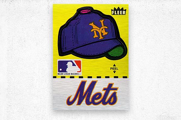 1981 New York Mets Fleer Decal Art  Metal print