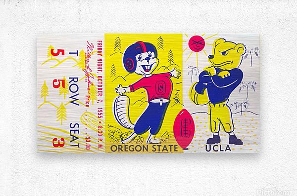 1955 Oregon State vs. UCLA  Metal print