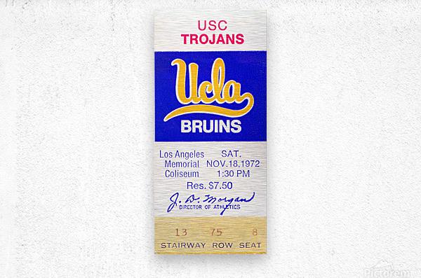 1972 USC vs. UCLA  Metal print