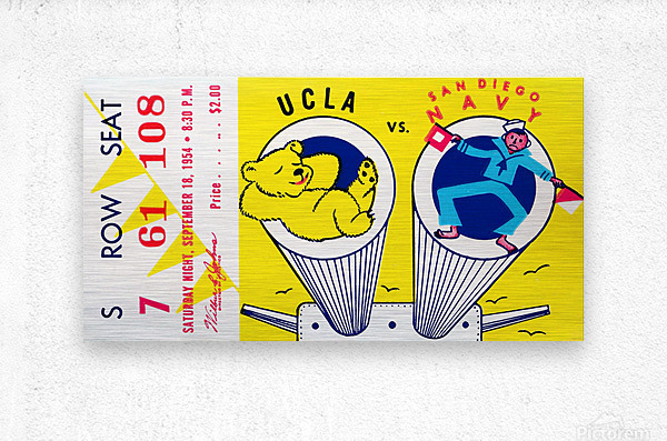 1954 UCLA vs. San Diego Navy  Metal print