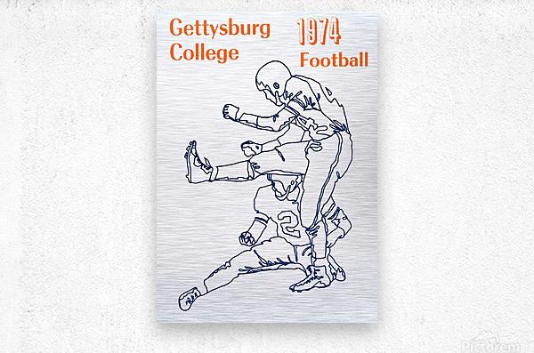 1974 Gettysburg College Football Art  Metal print
