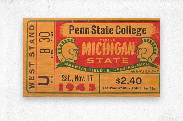 1945 Michigan State vs. Penn State  Metal print