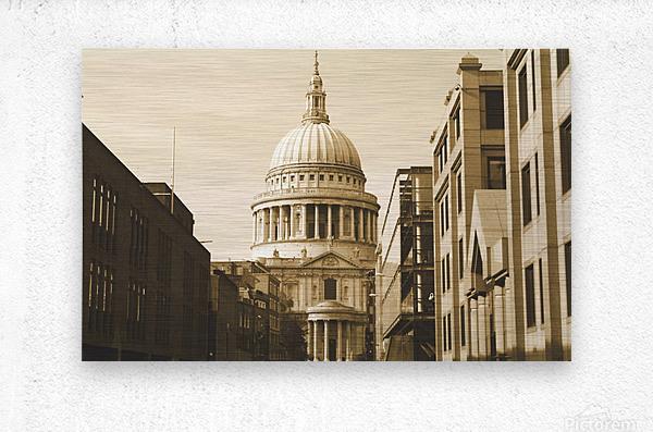 London - St  Pauls Cathedral  Metal print