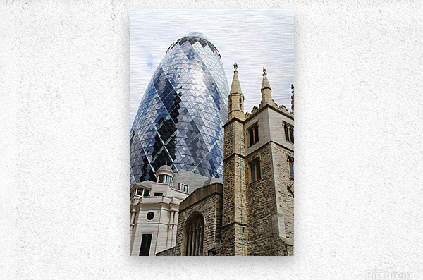 London old and new  Impression metal