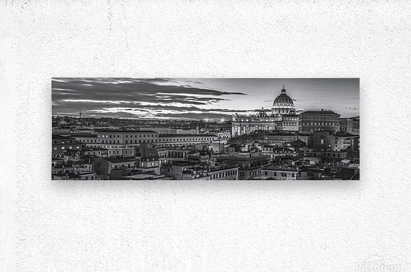 Vatican city with St. Peters Basilica, Rome, Italy  Metal print