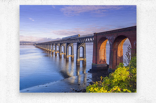 Tay Rail Bridge, Dundee, Scotland  Metal print
