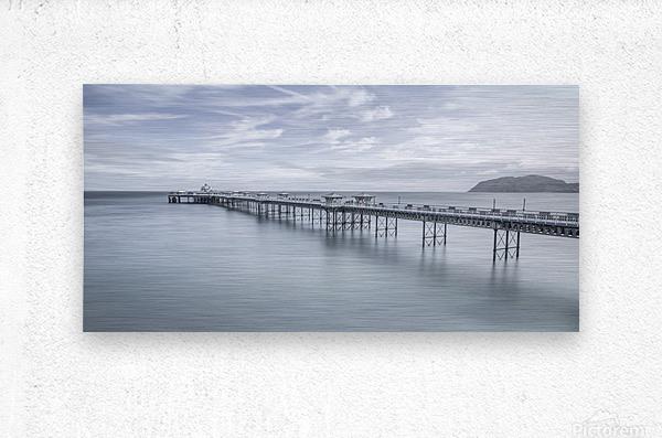Llandudno Pier, North Wales  Metal print