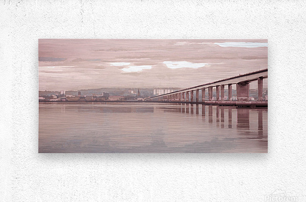 Tay Road Bridge over river Tay, Dundee, Scotland  Metal print