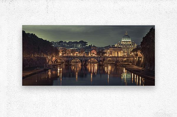 View of Basilica di San Pietro in Vatican, Rome, Italy  Metal print