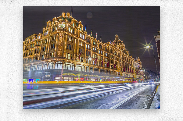 Harrods, London  Metal print