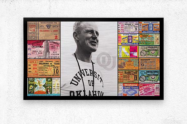 Oklahoma Football Bud Wilkinson Ticket Collage  Metal print