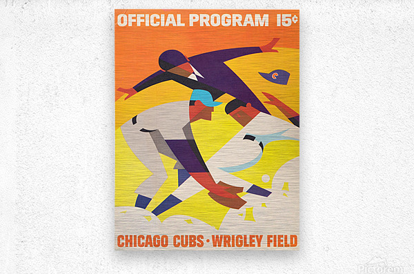 1967 Chicago Cubs Program  Metal print