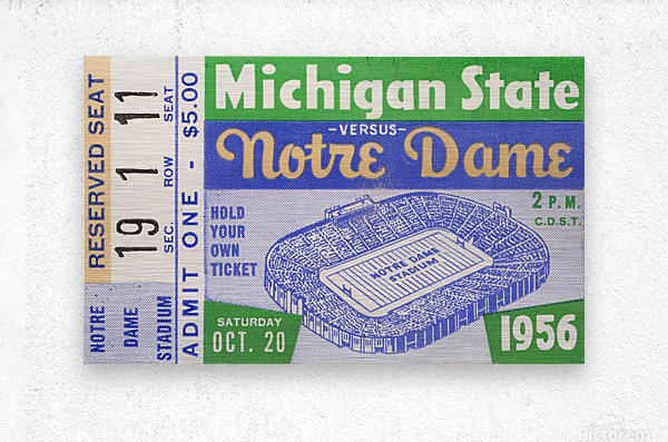 1956 Michigan State vs. Notre Dame  Metal print