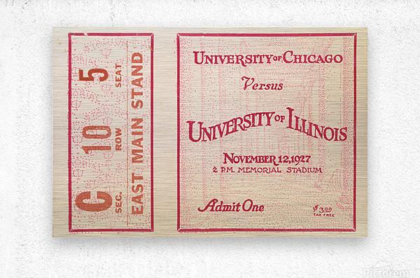 1927 Chicago vs. Illinois   Metal print