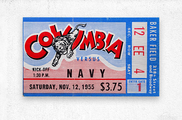 1955 Columbia vs. Navy  Metal print
