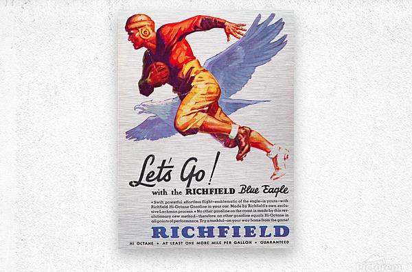1933 Richfield Gasoline Ad  Metal print